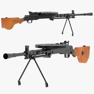 Degtyaryov machine gun 3D model