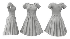 Conquered Retro Dress 3D