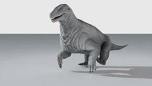 3D model moschops dinosaur