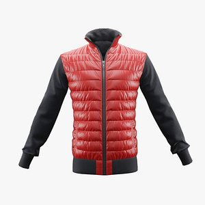 winter jacket red 3D model
