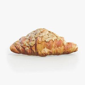 3D Croissant Almond model