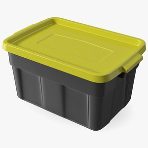 3D Stackable Storage Tote with Lid 14 Gallon model