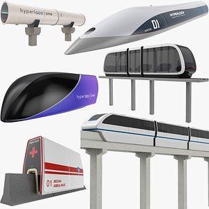 Modern Transportation Collection 3D