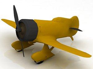 3D GeeBee Z Airplane model