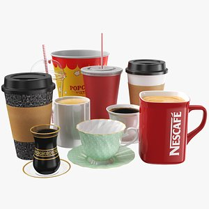 Large Cups Collection 3D model