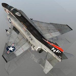 F4 B Phantom II VF-161 Chargers USS Midway 3D