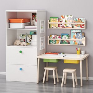 3D IKEA children art and study place model