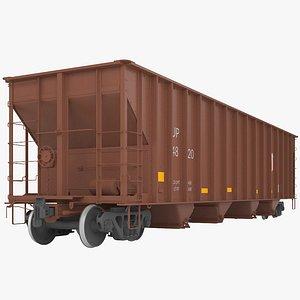 3D Railroad hopper wagon model