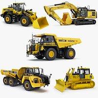 Collection Heavy Construction Machinery Komatsu