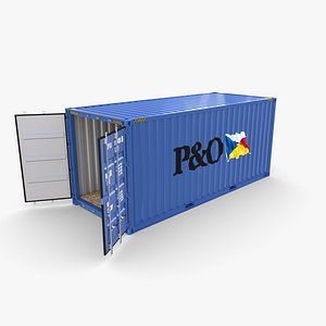 20ft Shipping Container PO v1 3D model