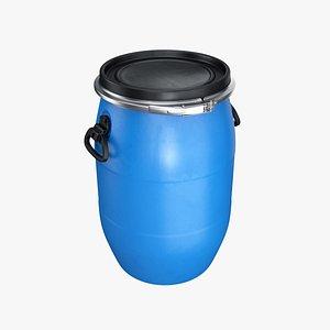 3D barrel plastic lid model