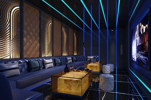 Living room bar KTV room entertainment club entertainment room European style rooms rooms rooms livi
