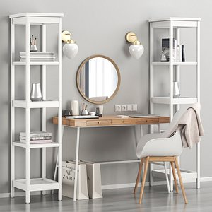 Women's IKEA dressing table and workplace 3D model