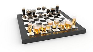 chess beer 3D