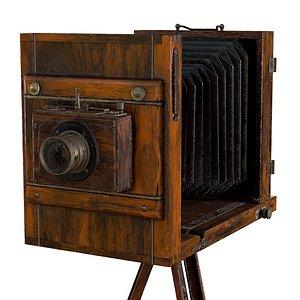 3D 19th century wet plate camera model