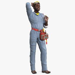 3D dark skin black man model
