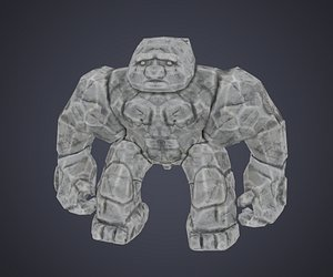 low-poly character rig animation 3D model