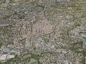 3D aix-en-provence city