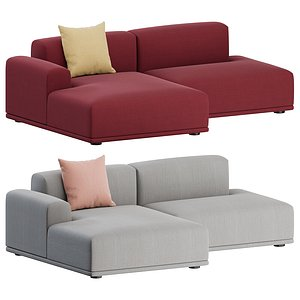 2 sofa seater connect 3D model