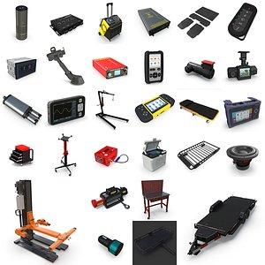 30 Car Tools And Accessories 3D model