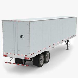 refrigerated semi trailer 3D model