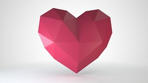 3D heart decor model