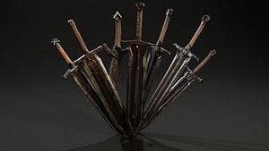 Pack Two-Handed Swords 3D model