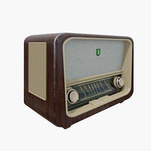 Old Antique Radio retro 3D model