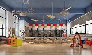 Kindergarten classroom school 3D model