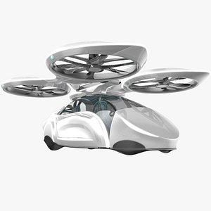 sci-fi futuristic passenger 3D model