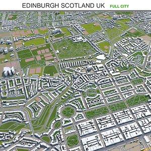 3D model Edinburgh Scotland UK