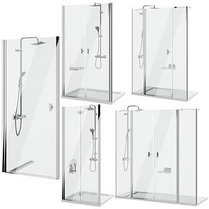 3D Shower doors Radaway Nes 8 set 142