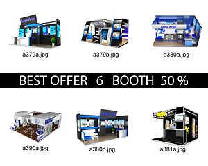 Booth Exhibition Stand c16 3D model