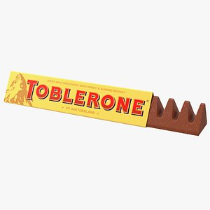 Opened Toblerone Milk Chocolate Bar 3D model
