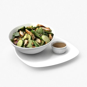 feta spinach avocado salad 3D model