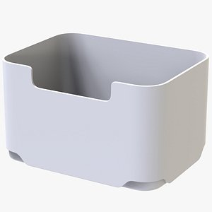 white storage bin 3D model