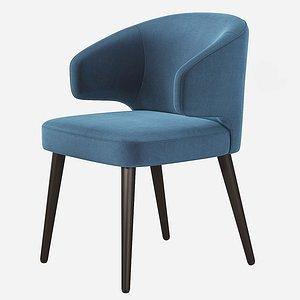minotti aston dining chair 3D