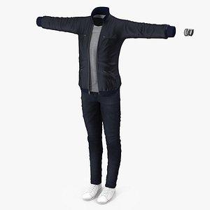 3D street clothes set