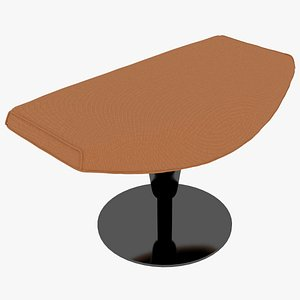 3D Cassina 277-42 Auckland Ottoman Arancio Fabric Black Body