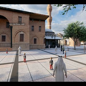 animation lumion mosque 3D model