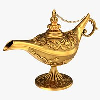 Aladdin magic lamp decorated gold