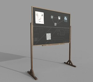 Police Blackboard 3D model