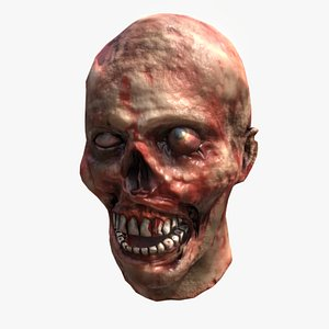 Lowpoly Zombie Head 3D model