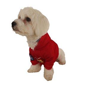 3D dog sit red model
