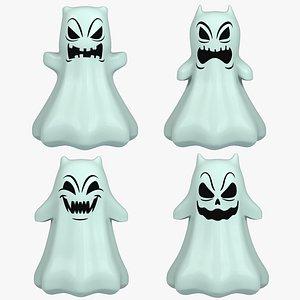 3D model cartoon ghost toon