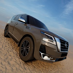 2022 Nissan Patrol Platinum facelift 3D model 3D model