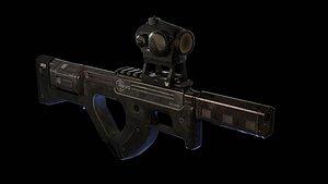 3D Revo bullpup heavy revolver