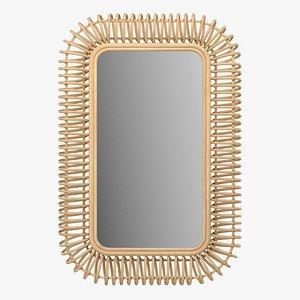 Rectangle mirror Tarsile La Redoute 3D model