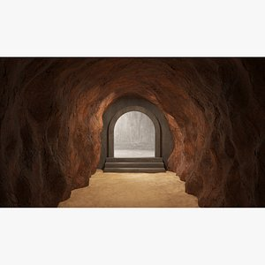 3D Cave tunnel 02