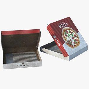 3D Pizza Box Dirty